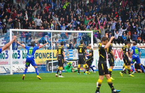 Andy marcó el tanto del empate para la Deportiva en un córner