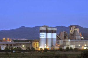 Imagen de las instalaciones de la empresa cementera