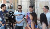 Gallardo convocó a los medios para explicarles su visión del conflicto