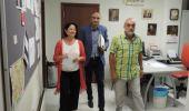 Marqués, Ramón y Vega comparecieron ante los medios en la sede del PSOE