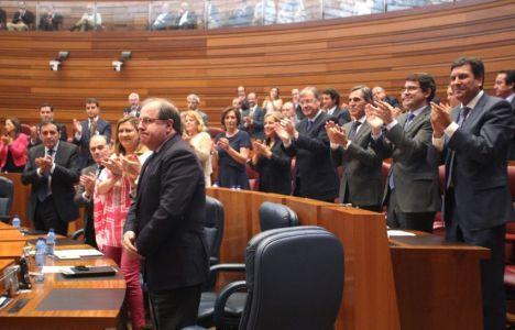 Juan Vicente Herrera en el momento de su investidura (Aitor Sol)