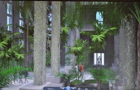Proyecto para la planta baja del edificio que albergará una recreación de un bosque del Carbonífero