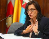 La popular Amparo Vidal durante su comparecencia ante los medios (César Sánchez)