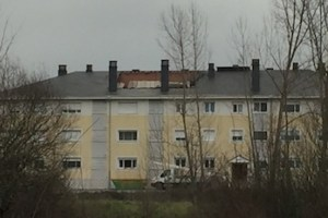 Imagen del edificio afectado por el desplome del tejado.