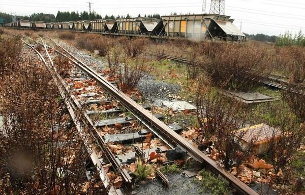 Estado actual de la estación de tren de Cubillos del Sil (Ponfeblino)