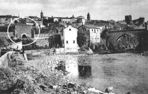 Localización de 'La Bóveda', donde estaba la antigua sinagoga, próxima al puente Cubelos de Ponferrada (Ical)