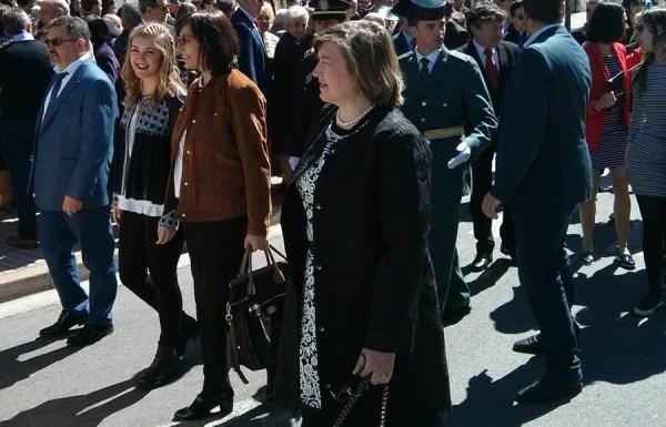 Noemí García y Amparo Vidal, en la procesión en honor a San José Obrero