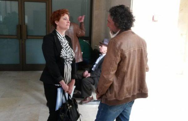 Nancy Prada, minutos antes del juicio.