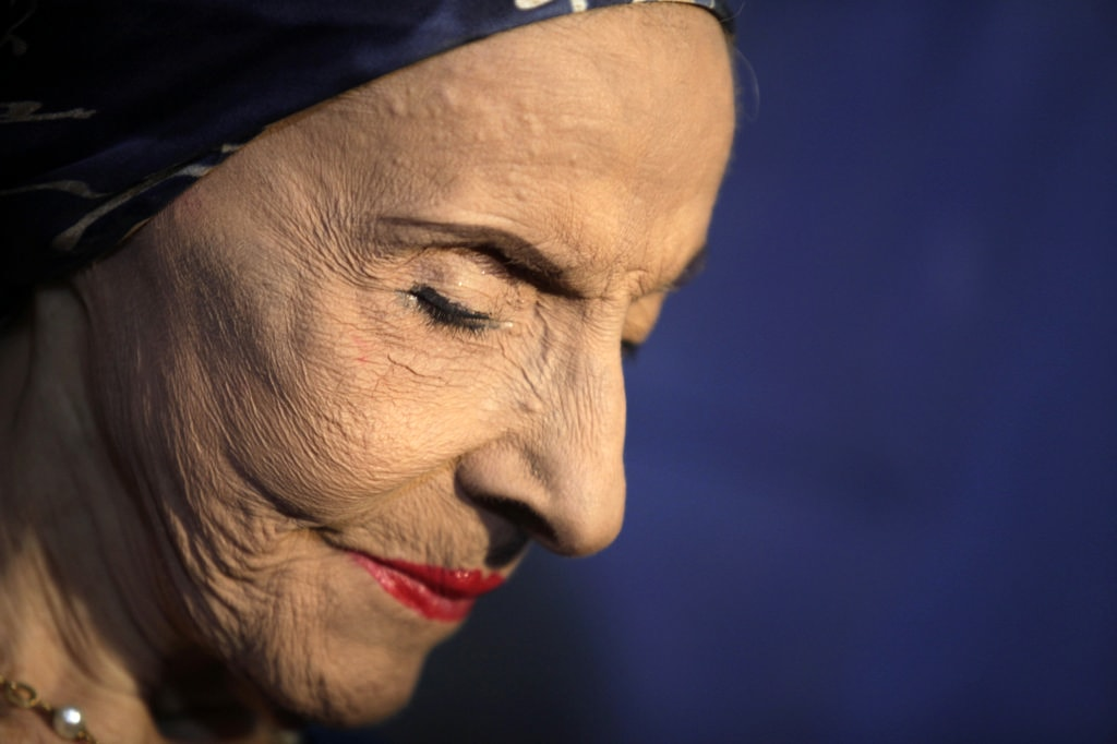 Alicia Alonso, Cuban prima ballerina assoluta and founder of the Cuban National Ballet, attends an event to mark the opening of the 24th International Ballet Festival of Havana, in Havana October 28, 2014. The festival runs from October 28 to November 7 under Alonso's general direction.   REUTERS/Enrique De La Osa (CUBA - Tags: SOCIETY) - RTR4BY9I