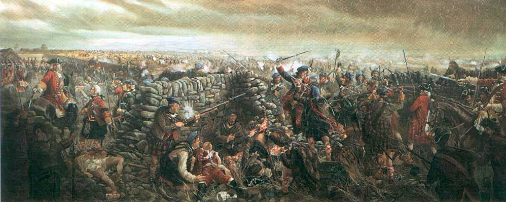 The Battle of Culloden in which Bonnie Prince Charles was defeated     The Battle of Culloden  Click image to see larger picture   62722 bytes
