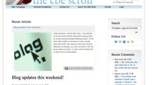 The CBE Scroll blog