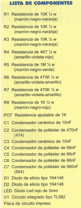 KIT 35 lista componentes