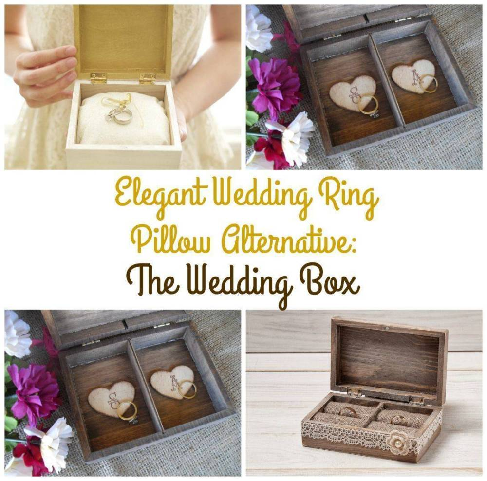 Elegant Wedding Ring Pillow Alternative: The Wedding Box