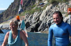 Leonardo D'Imporzano, con Donatella Bianchi per Linea Blu