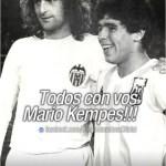 La foto que subió Maradona para mandar su apoyo al Matador (foto)