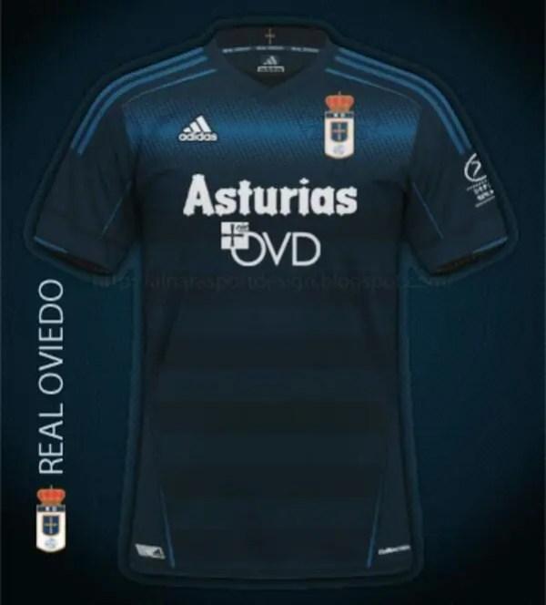Así será la primera equipación del Real Oviedo para la 2016/17. / Vía Twitter.