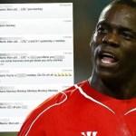 SuperMario se mofa en Twitter del United y recibe innumerables insultos racistas