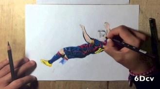 Bonito homenaje de un estudiante de diseño al récord goleador de Messi (Vídeo)