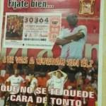 La lotería de Navidad que se vende en Sevilla insulta al Valencia CF