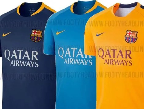 Barcelona  las nuevas camisetas de entrenamiento del cuadro catalán ... 1d4cd842f22