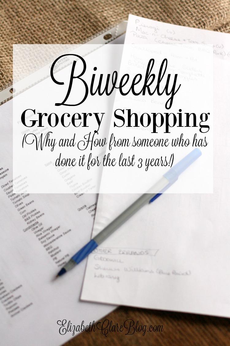 Biweekly Grocery Shopping