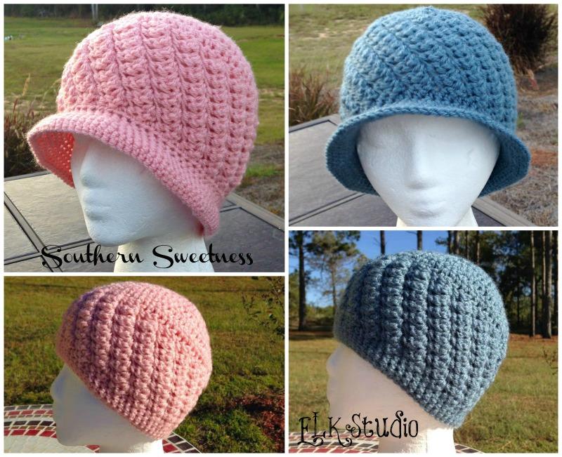 Crochet Hat Patterns Free Cancer Patients : Southern Sweetness Crochet Hat by ELK Studio