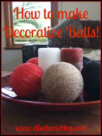 How to make Decorative Balls