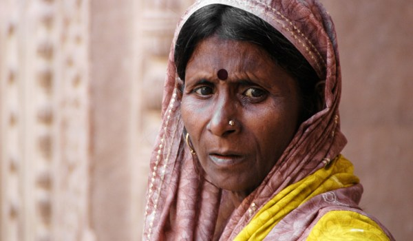 Woman at the fort of Gwalior