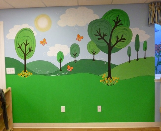 more day care murals cartoon park mural ellen leigh preschool wall murals daycare murals playroom mural