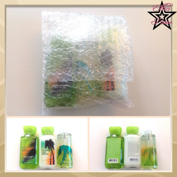 Bath and body works kit voyage Coconut Lime Breeze
