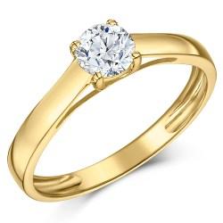 Relieving Yellow G Half Carat Diamond Solitaire Engagement Ring Yellow G Half Carat Diamond Solitaire Engagement Ring Half Carat Diamond Wedding Band Half Carat Diamond On Hand