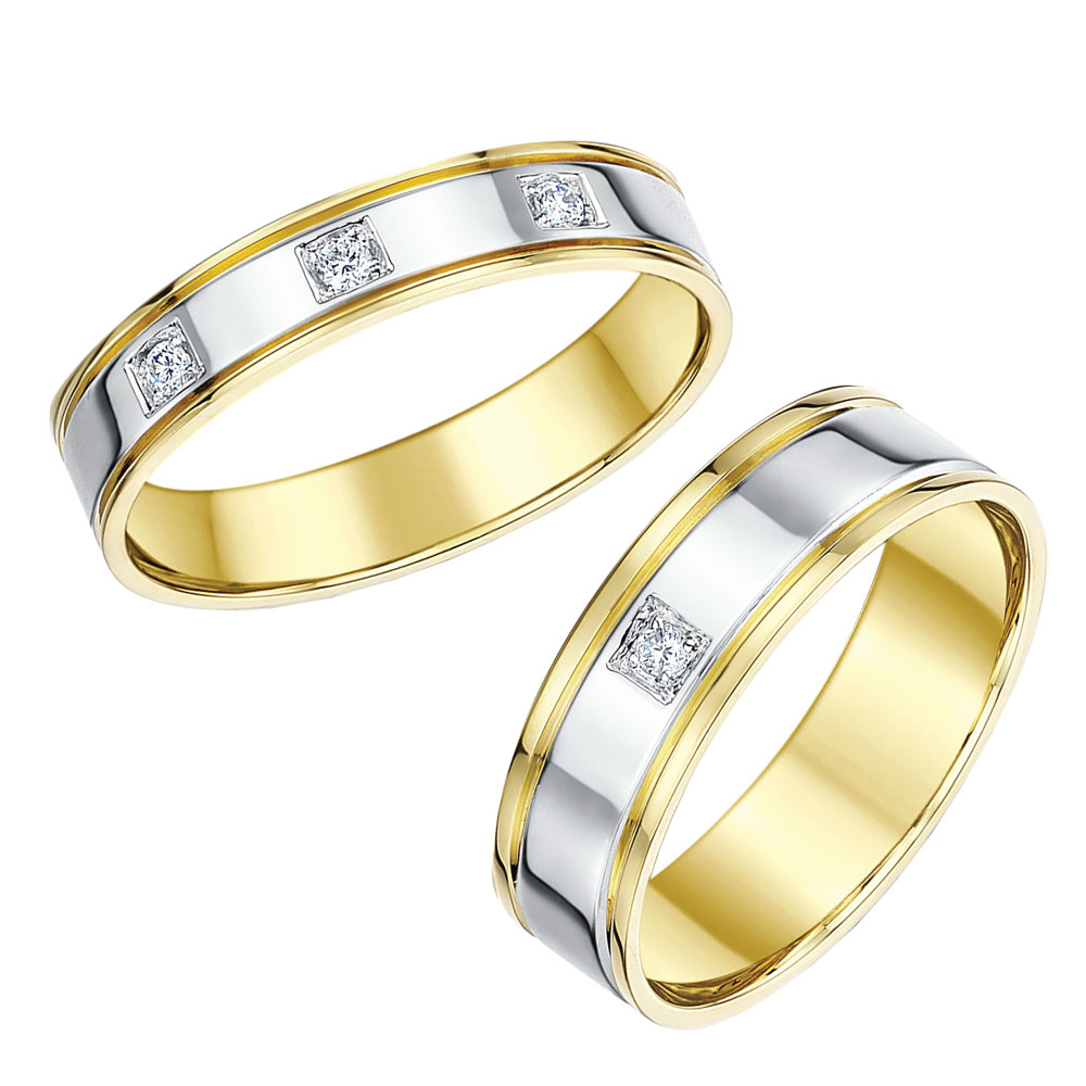 white gold c matching gold wedding bands Two Colour Gold