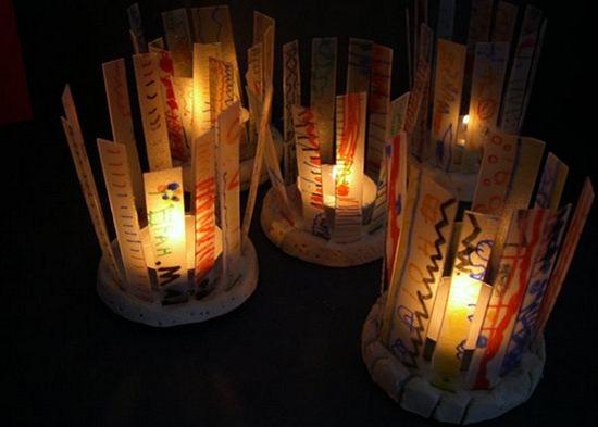 Faroles con material reciclado imagui - Farolillos para velas ...