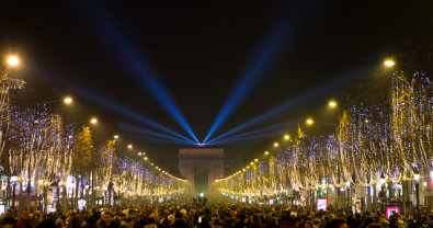 Celebrating New Year's on the Champs-Elysees? Hope you like crowds!
