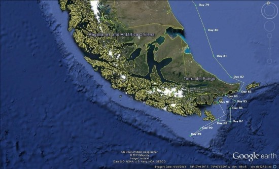 6 Punta Arenas to 50 degrees south