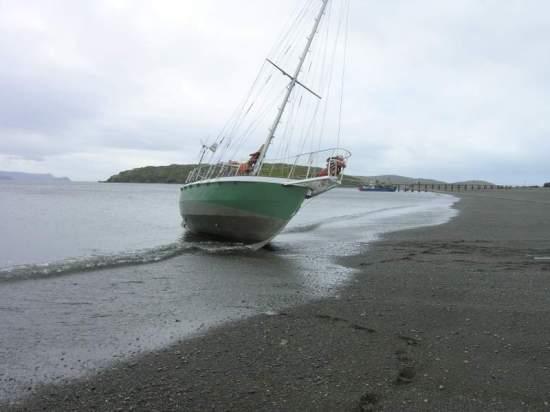 Elsi beached at Caletta Lennox.