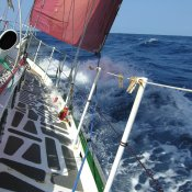 Into the SE Trade wind