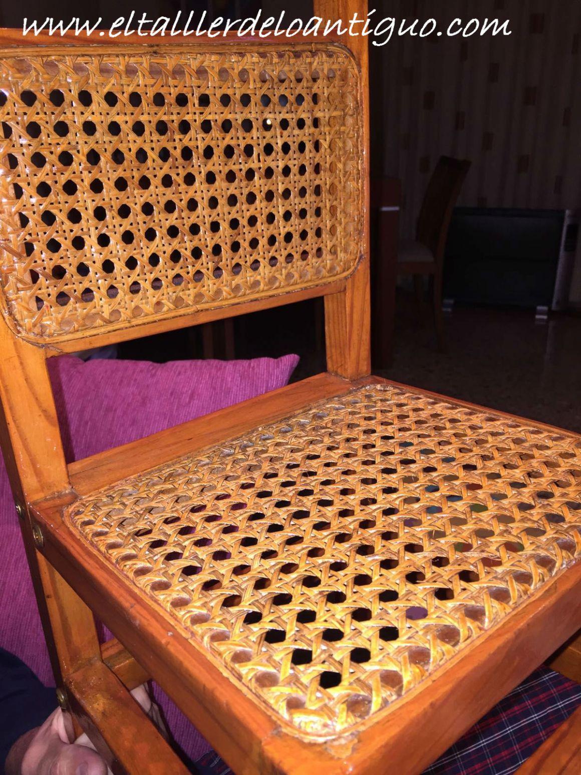 Reparar silla de rejilla el taller de lo antiguo - Como se elabora una silla de madera ...