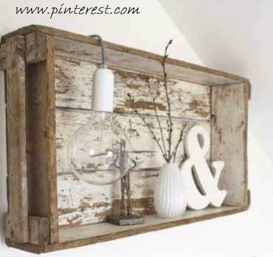 Cajas de madera en decap blanco shabby el taller de - Pintura lacada blanca para madera ...