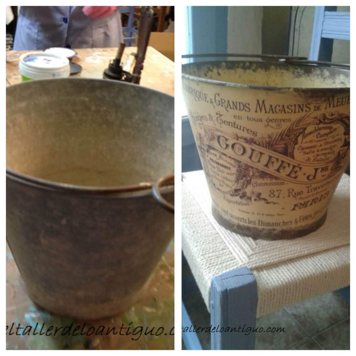 Como imitar el oxido con pintura cubo de lat n el - El taller de lo antiguo ...
