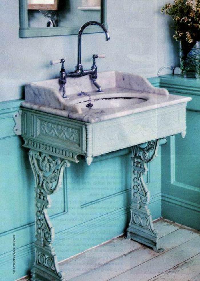 mueble ba o azul turquesa
