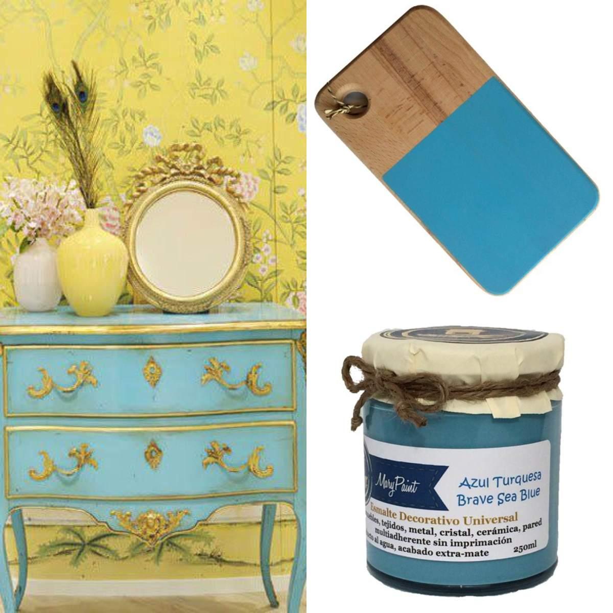 Mueble Baño Azul Turquesa:preparado un pequeño paseo por muebles pintados de azul turquesa