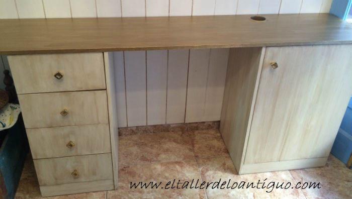 Como pintar muebles de melamina el taller de lo antiguo - Pintar puertas de blanco sin lijar ...