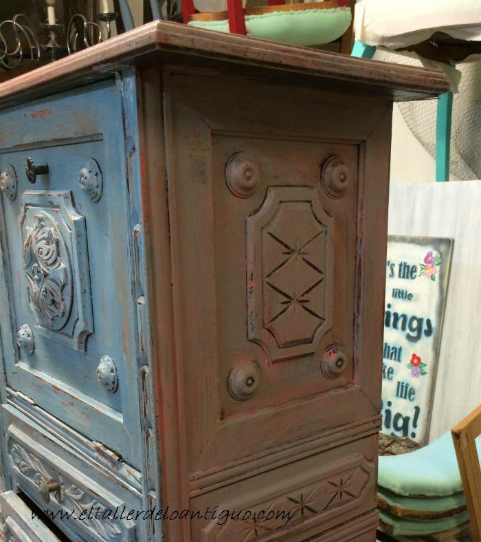 Pintar mueble t cnica decapado - Restaurar muebles vintage ...