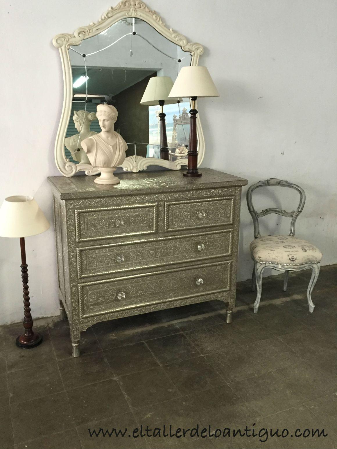 Limpiar mueble de alpaca el taller de lo antiguo - Como limpiar muebles de madera antiguos ...
