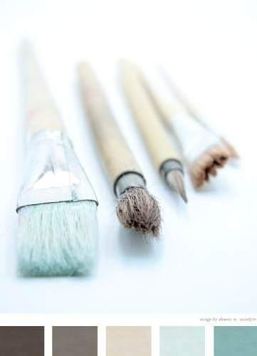 Pinceles paletas de color