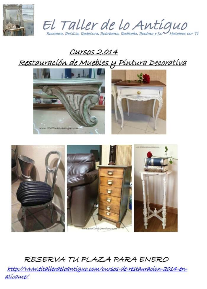 Cursos de restauraci n 2014 en alicante el taller de - Tecnicas de restauracion de muebles ...