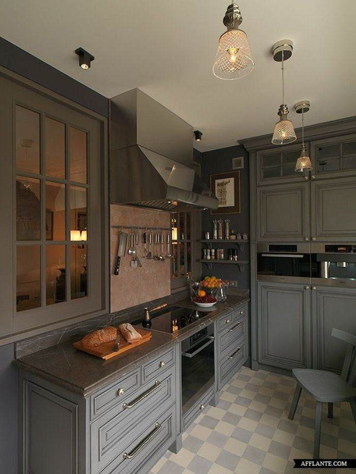 gray paint kitchen