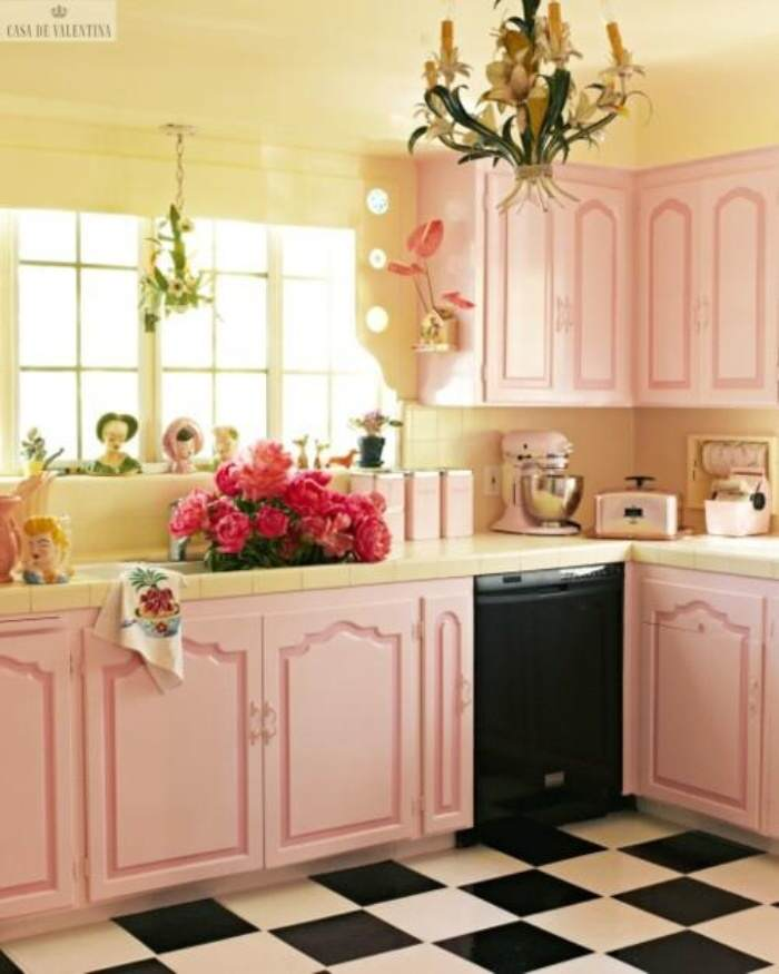 paint pink kitchen