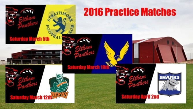 Practice Matches 2016 – Confirmed (UPDATED)